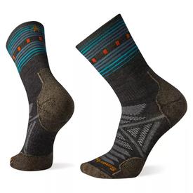 Smartwool PhD® Outdoor Light Pattern Crew Sock Men's - Charcoal