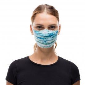 Buff Adult Filter Mask - Makrana Sky Blue