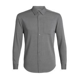 Icebreaker Cool-Lite Steveston LS Flannel Shirt Men's - Gritstone Heather