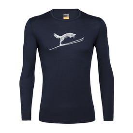 Icebreaker Oasis LS Crewe Fox Jump Men's - Midnight Navy