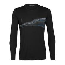 Icebreaker Tech Lite LS Crewe T-Shirt Impact Timeline Men's - Black