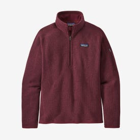 Patagonia Better Sweater 1/4-Zip Fleece Women's - Chicory Red