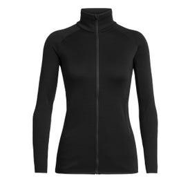 Icebreaker Elemental Long Sleeve Zip Jacket Women's - Black