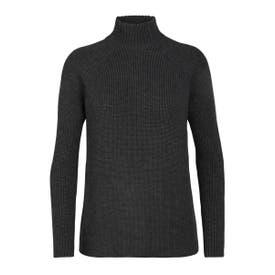 Icebreaker Hillock Funnel Neck Sweater Women's - Charcoal Heather