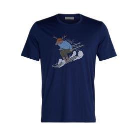 Icebreaker Tech Lite II Ski Rider SS Shirt Men's - Royal Navy