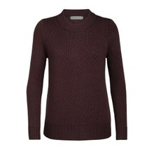 Icebreaker Waypoint Crewe Sweater Women's - Merlot Heather