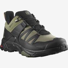 Salomon X Ultra 4 Gore-Tex Wide Hiking Shoe Men's - Deep Lichen Green / Black / Olive Night