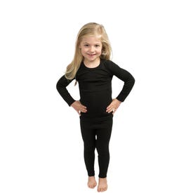 360 Degrees Thermal Bottom Kids - Black