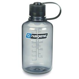 Nalgene Tritan Narrow Mouth 500ml Bottle - Grey / Black Lid