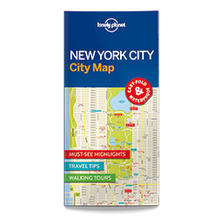 Lonely Planet New York City Map 1st Edition