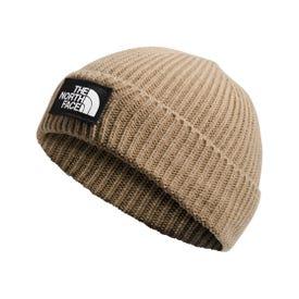 The North Face Logo Box Cuff Beanie - Hawthorne Khaki