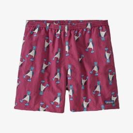 """Patagonia Baggies Shorts 5"""" Men's - Blue Prints: Star Pink"""