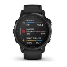 Garmin fēnix® 6S Pro GPS Watch - Black with Black Band