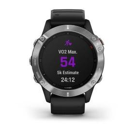 Garmin fēnix 6 GPS Watch - Silver with Black Band