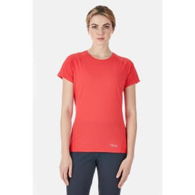 Rab Force Tee Short Sleeve Women's - Geranium