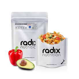 Radix Expedition - Plant Based Mexican Chilli with Avocado