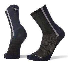 Smartwool PhD® Cycle Ultra Light Pattern Crew Sock Men's - Black