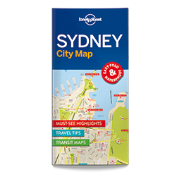 Lonely Planet Sydney City Map 1st Edition