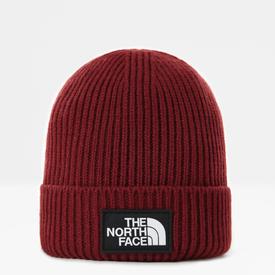 The North Face Logo Box Cuffed Beanie - Brick House Red