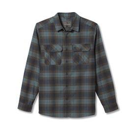 Royal Robbins Lost Coast Flannel Plaid LS Shirt Men's - North Atlantic